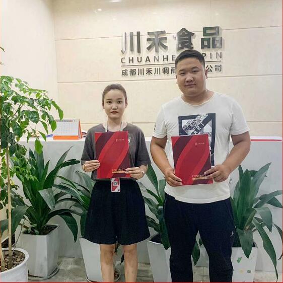 恭喜甘肃合作伙伴王总签约龙厂长火锅技术培训
